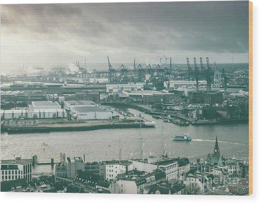 Hamburg Port  Wood Print