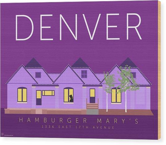 Hamburger Mary's Wood Print