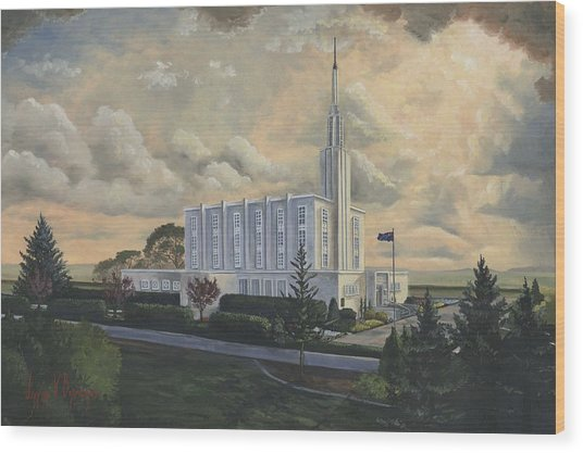 Hamilton New Zealand Temple Wood Print