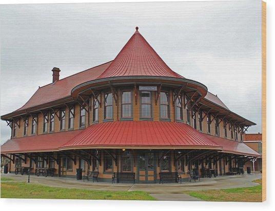 Hamlet Train Station Wood Print