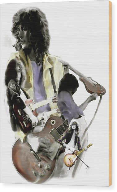 Hammer Of The Gods   Jimmy Page Wood Print