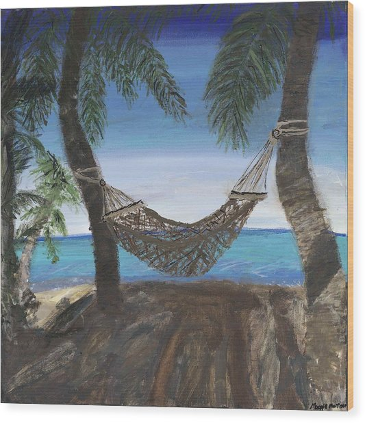 Hammock Haven Wood Print by Maggie  Morrison