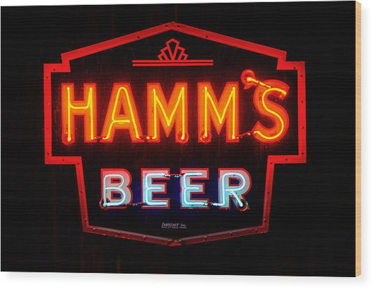 Hamm's Beer Wood Print