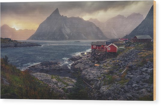 Wood Print featuring the photograph Hamnoy by James Billings