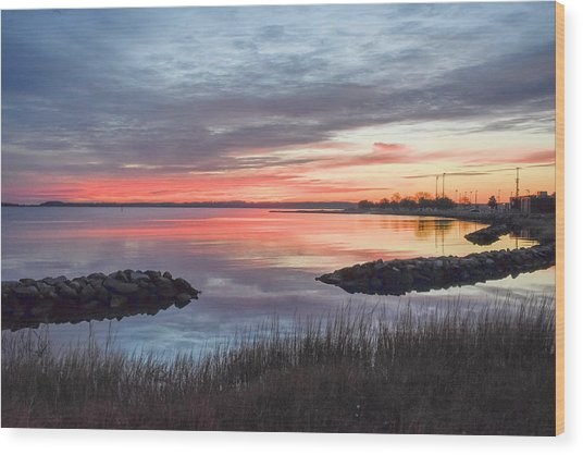 Hampton Sunrise Wood Print