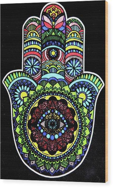 Hamsa Wood Print