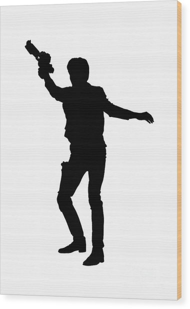 Han Solo Star Wars Tee Wood Print
