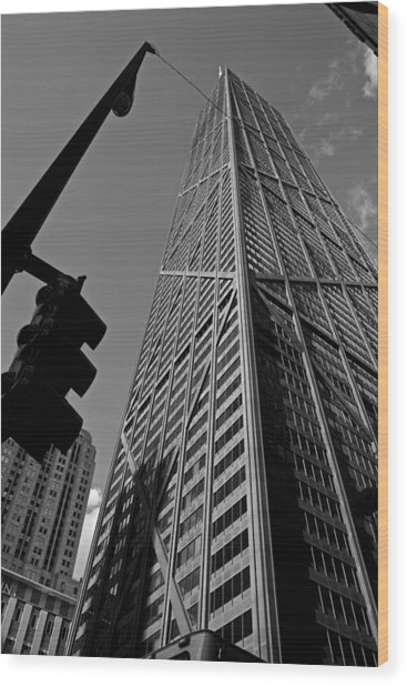 Hancock - Chicago - Wood Print by Miranda  Miranda