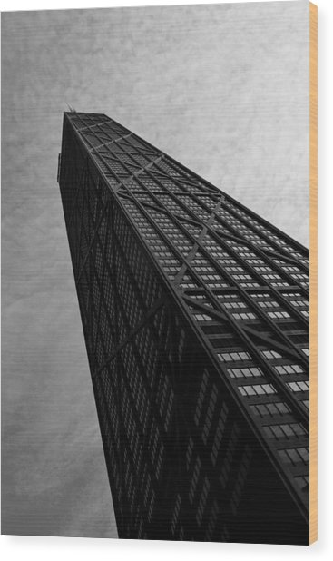 Hancock Building Wood Print