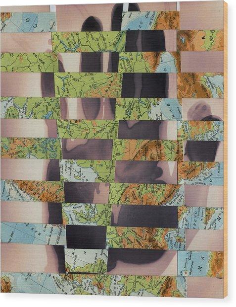 Hand Collage 2 Wood Print