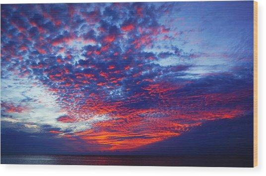 Hand Of God At Sunrise Wood Print