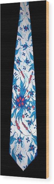 Hand Pinted Tie Wood Print