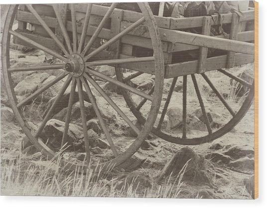 Handcart Wood Print