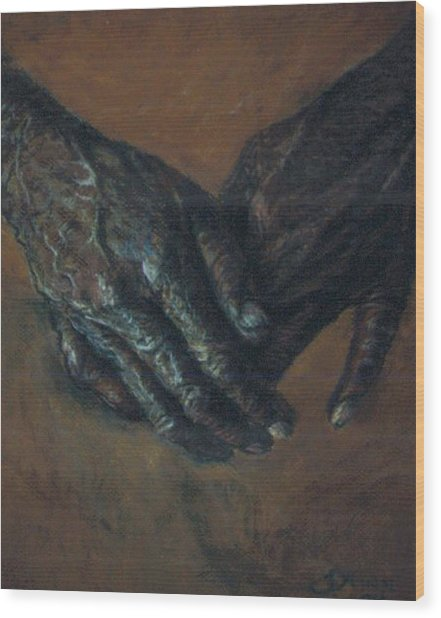 Hands Of Time Wood Print by Tommy  Winn