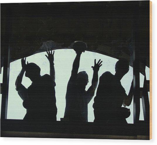 Hands On Work Wood Print by Ken Gimmi