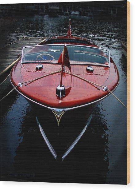 Handsome Wooden Boat Wood Print
