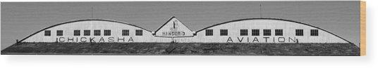 Hangar Wood Print
