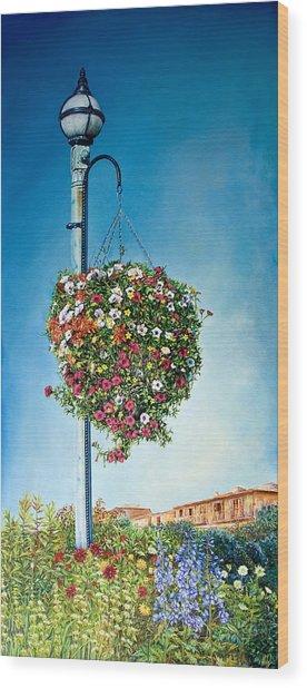 Hanging Basket Wood Print