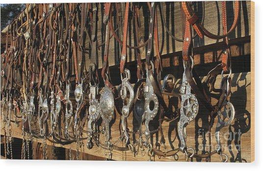 Hanging Bits Wood Print
