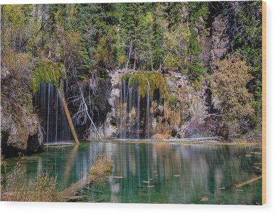 Wood Print featuring the photograph Hanging Lake by Chuck Jason