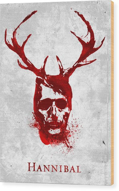 Hannibal Tv Show Poster Wood Print