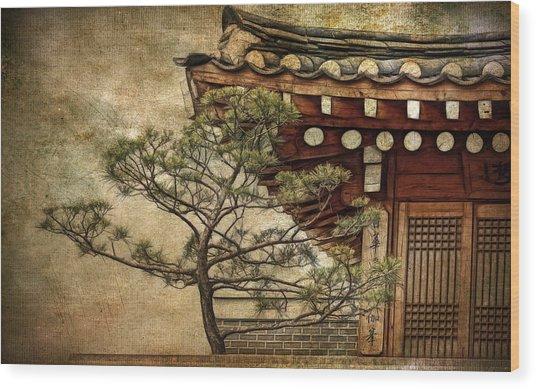 Hanok And Pine Wood Print