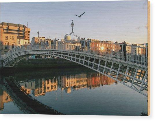 Ha'penny Bridge Wood Print