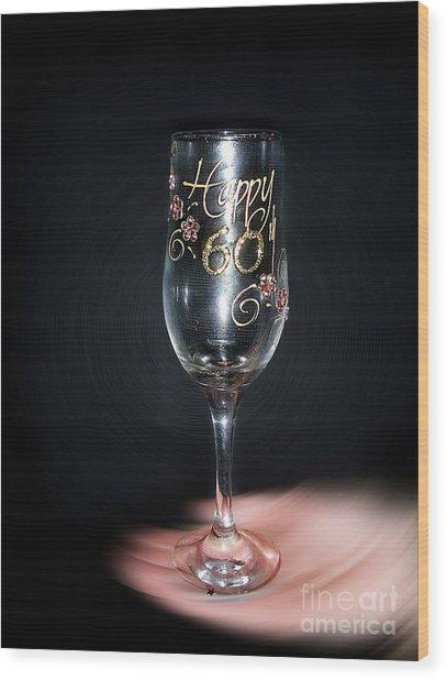 Happy 60th Birthday Wood Print
