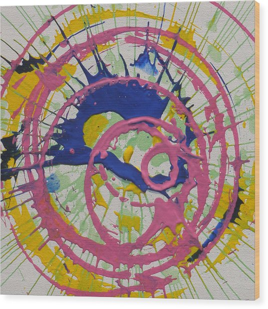 Happy Wood Print by Michael Palmer