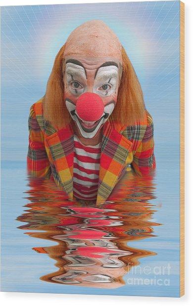 Happy Clown A173323 5x7 Wood Print
