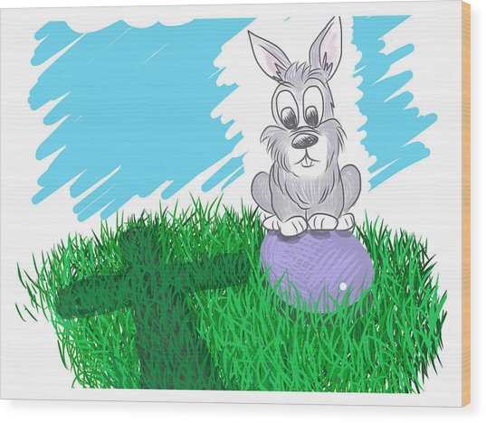 Wood Print featuring the digital art Happy Easter by Antonio Romero