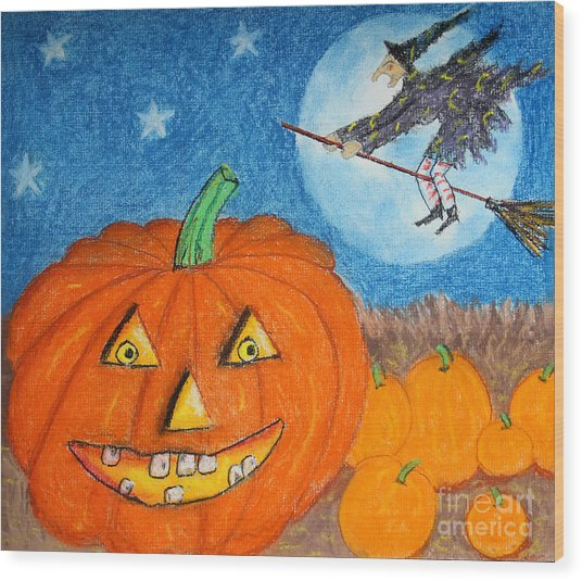 Happy Halloween Boo You Wood Print