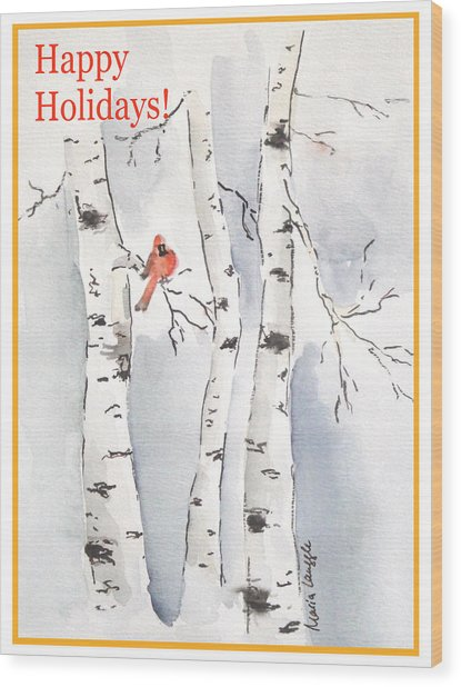 Happy Holidays Wood Print