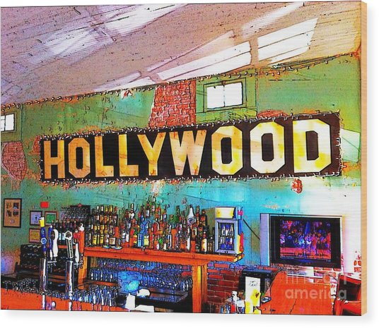 Wood Print featuring the photograph Happy Hour At The Hollywood Cafe by T Lowry Wilson