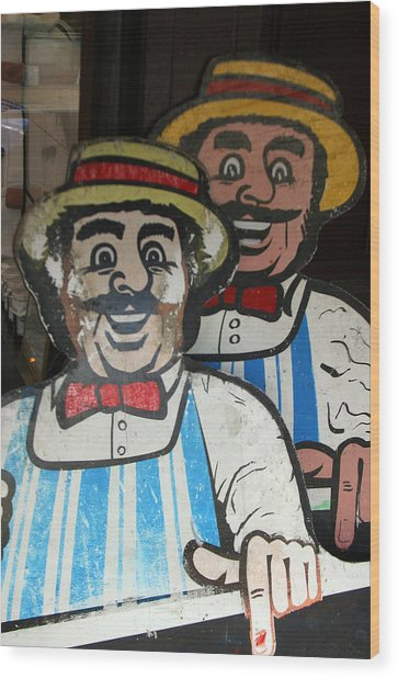happy meat Makers Wood Print by Jez C Self