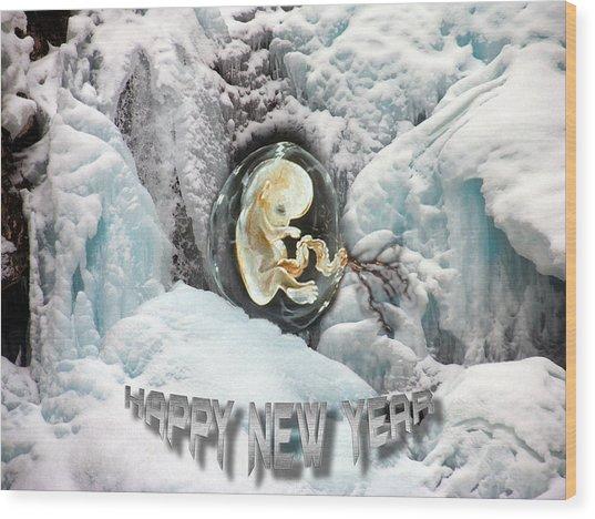 Happy New Year Wood Print