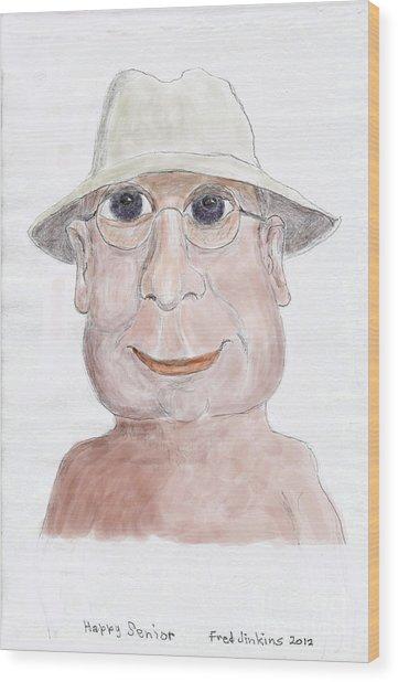 Happy Senior Wood Print