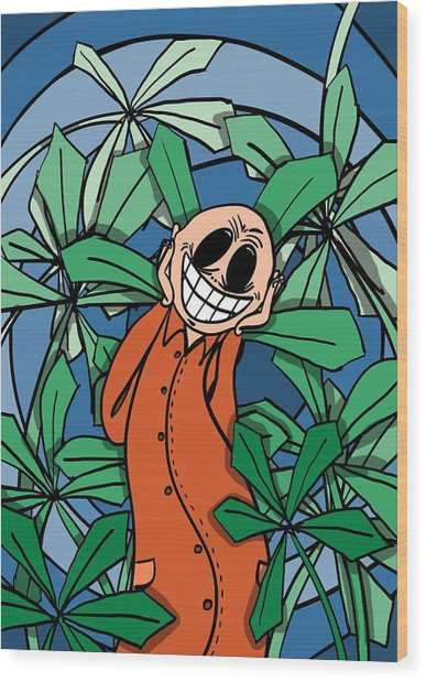 Happyanja Wood Print