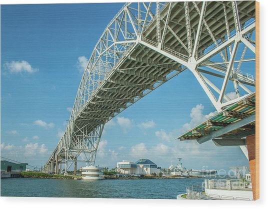 Harbor Bridge Wood Print