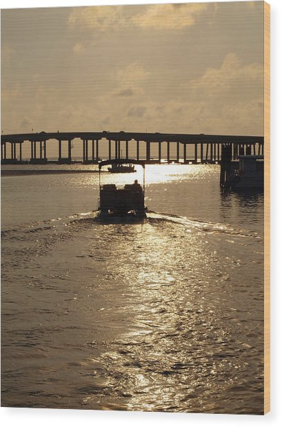 Harbor Departure Wood Print by James Granberry