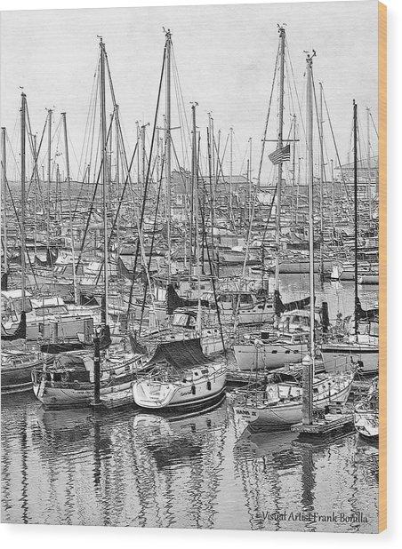 Harbor II Wood Print