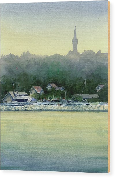 Harbor Master, Port Washington Wood Print