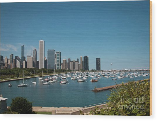 Harbor Parking In Chicago Wood Print