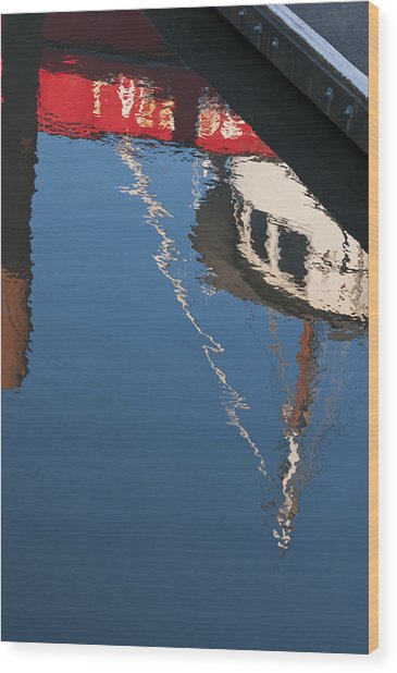 Harbor Reflections Wood Print