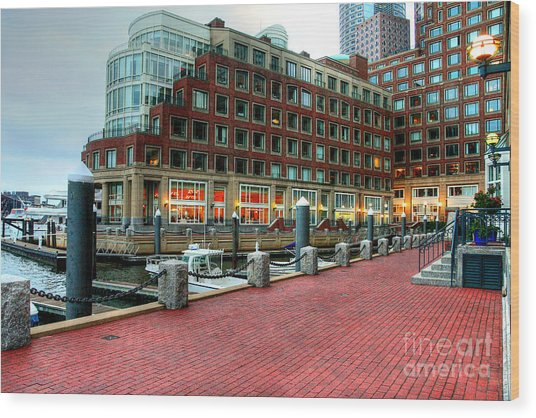 Harborwalk Wood Print