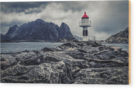Harbour Lighthouse Wood Print