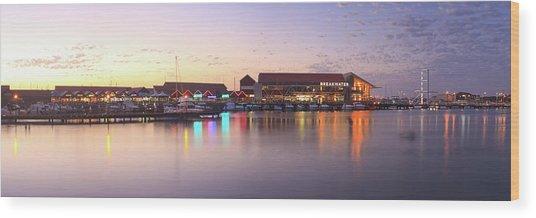 Harbour Lights, Hillarys Boat Harbour Wood Print