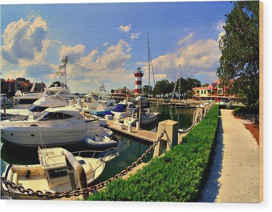Harbour Town Marina Sea Pines Resort Hilton Head Sc Wood Print