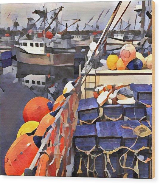 Harbour Ville Wood Print