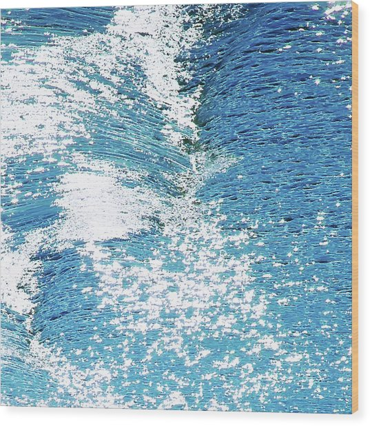 Wood Print featuring the digital art Hard Water Abstract by Menega Sabidussi